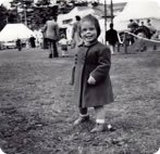 At Alyth & District Agricultural Show, aged two and a half.