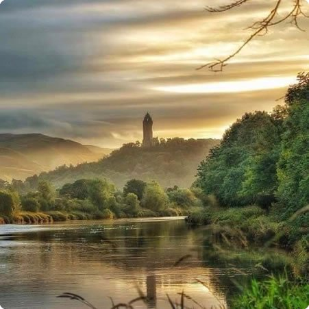 The Wallace Monument. Symbol of Scotland's desire for freedom. Photograph: Charles Mcguigan.