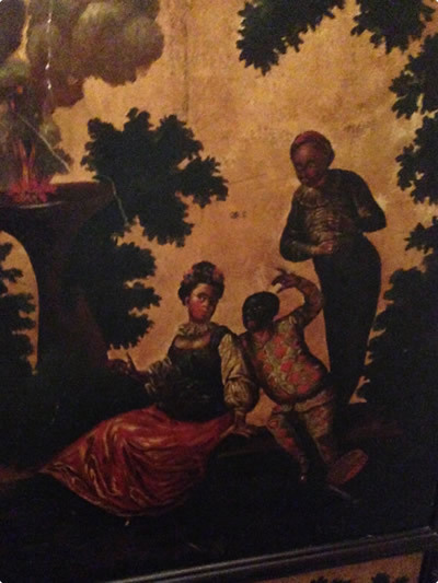 Caricatures of black people on the walls of Dunrobin Castle