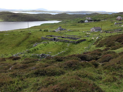 The remains of homesteads on the West coast of Lewis.